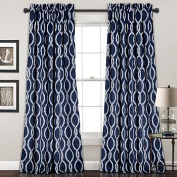 Half Moon 2-pack Rope Knot Window Curtains