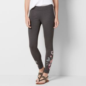Women's SONOMA Goods for Life™ Embroidered Floral Leggings