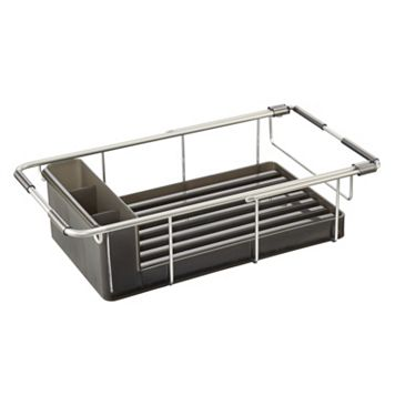 InterDesign Metro Aluminum Over-Sink Dish Drainer