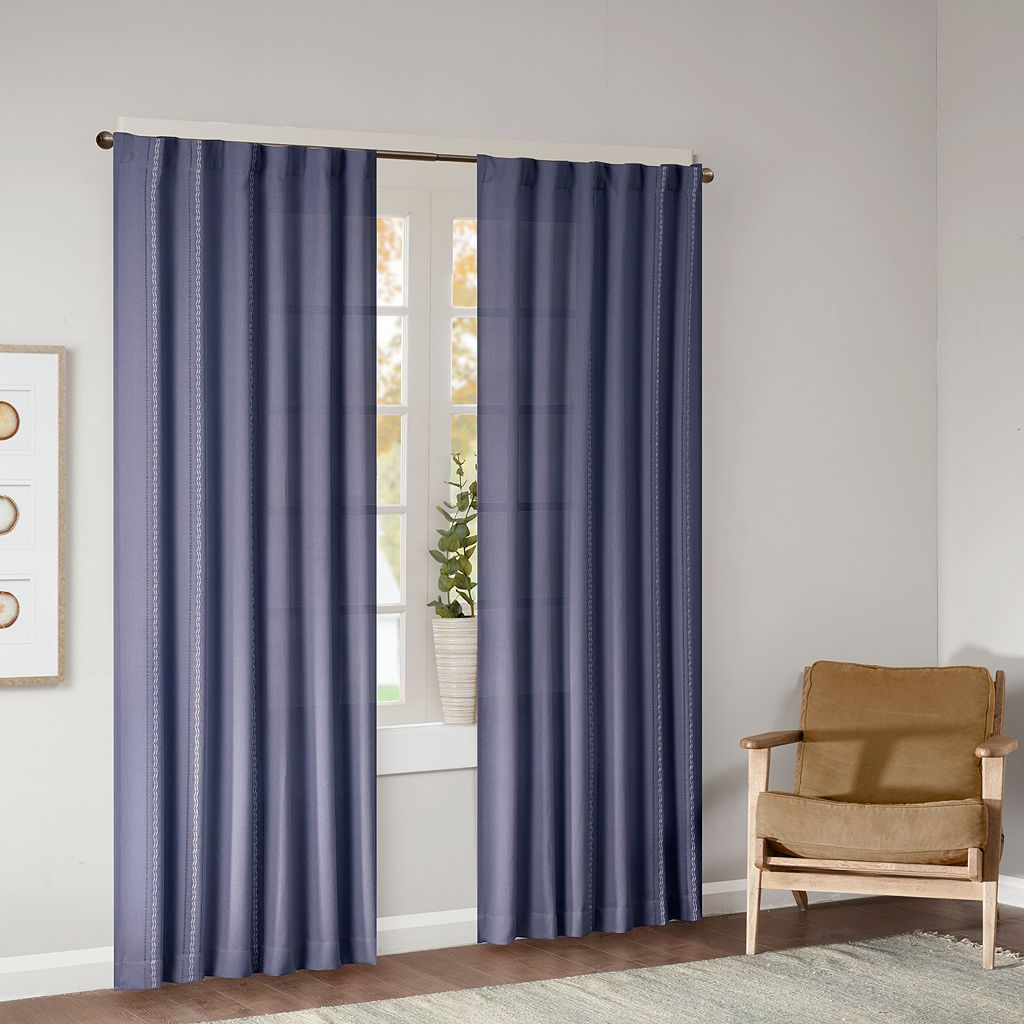 Madison Park 2-pack Harlow Dobby Jacquard Window Curtains