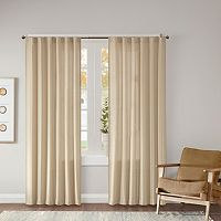 Madison Park Harlow Dobby Jacquard Window Curtain Set