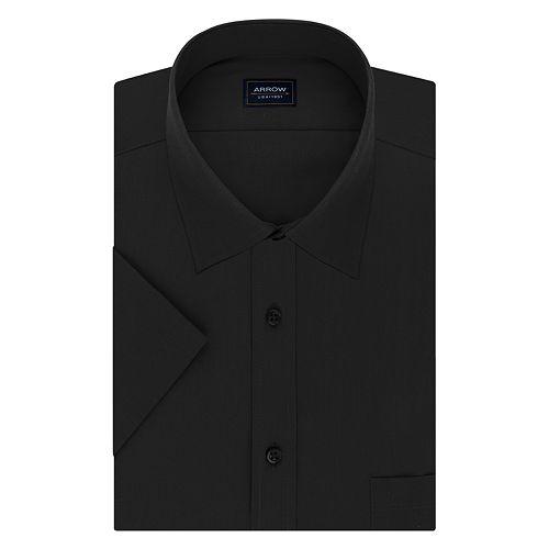 Big & Tall Arrow Regular-Fit Spread-Collar Short-Sleeved Dress Shirt