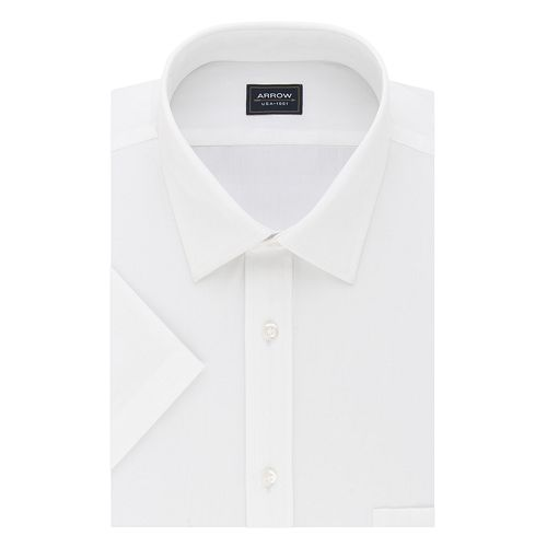 Big & Tall Arrow Regular-Fit Spread-Collar Short-Sleeved Dress Shirt