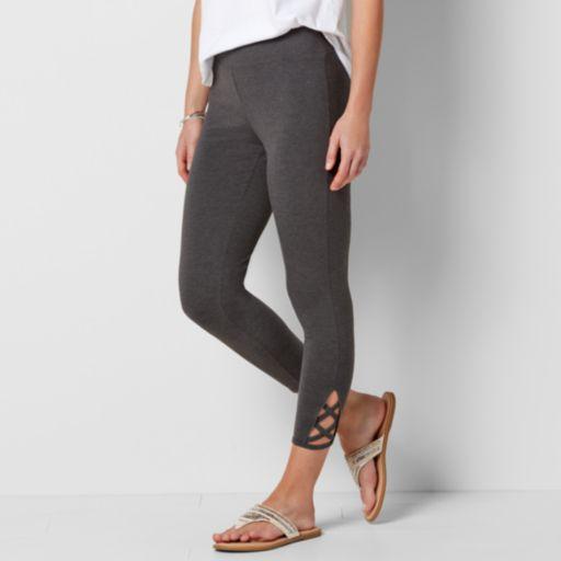 Women's SONOMA Goods for Life™ Lattice-Hem Leggings