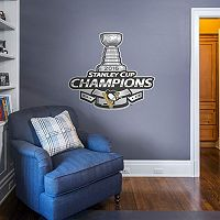 Pittsburgh Penguins 2016 Stanley Cup Champ Logo Wall Decal by Fathead