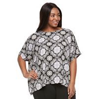 Plus Size Croft & Barrow® Crepe Popover Top