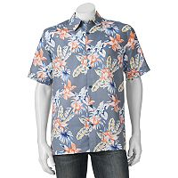 Men's Havanera Floral Classic-Fit Linen-Blend Button-Down Shirt