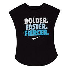 Girls 4-6x Nike 'Bolder. Faster. Fiercer.' Tee
