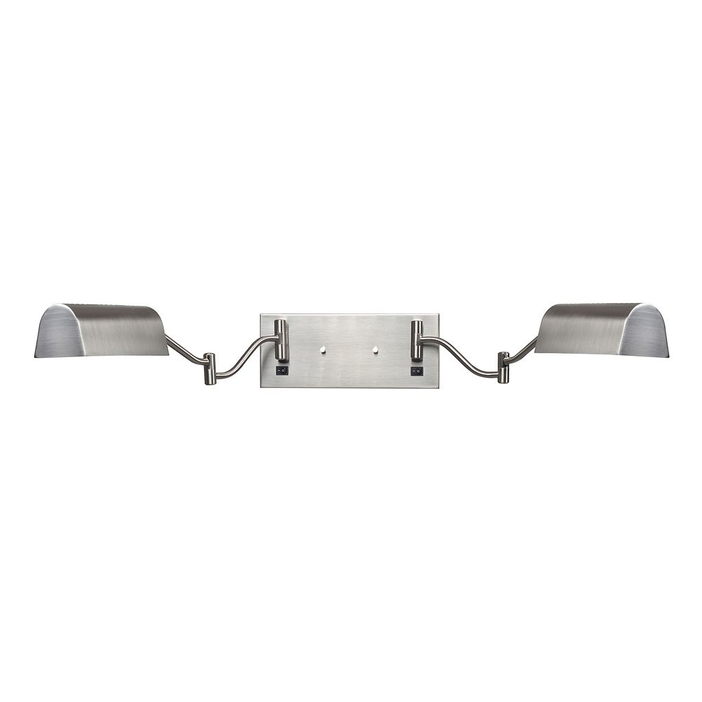Kenroy Home Wellesley 2-Light Swing-Arm Wall Lamp