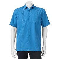 Men's Havanera Classic-Fit Embroidered Two-Pocket Button-Down Shirt