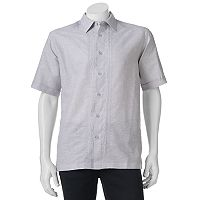 Men's Havanera Classic-Fit Embroidered Linen-Blend Button-Down Shirt