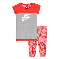 Girls 4-6x Nike Raglan Tee & Print Capri Pants Set