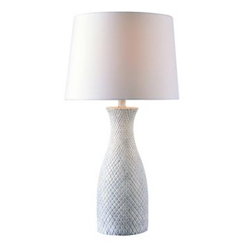 Kenroy Home Hatched Textured Table Lamp