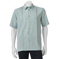 Men's Havanera Embroidered Panel Button-Down Shirt