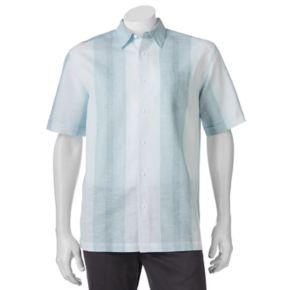 Men's Havanera Striped One-Pocket Linen-Blend Button-Down Shirt