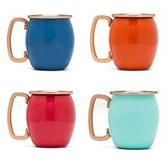 Fiesta 4 pc Copper Moscow Mule Shot Mug Set
