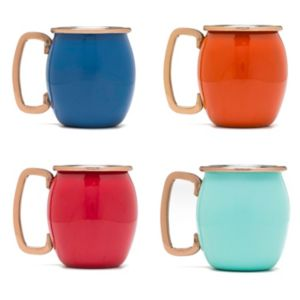 Fiesta 4-pc. Copper Moscow Mule Shot Mug Set