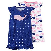 Toddler Girl Carter's 2-pk. Knee Length Nightgowns