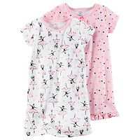 Toddler Girl Carter's 2-pk. Knee Length Nightgowns