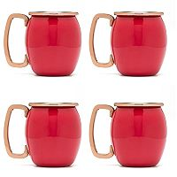Fiesta 4 pc Copper Moscow Mule Shots Mug Set