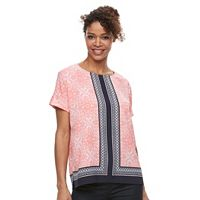 Women's Croft & Barrow® Crepe Popover Top