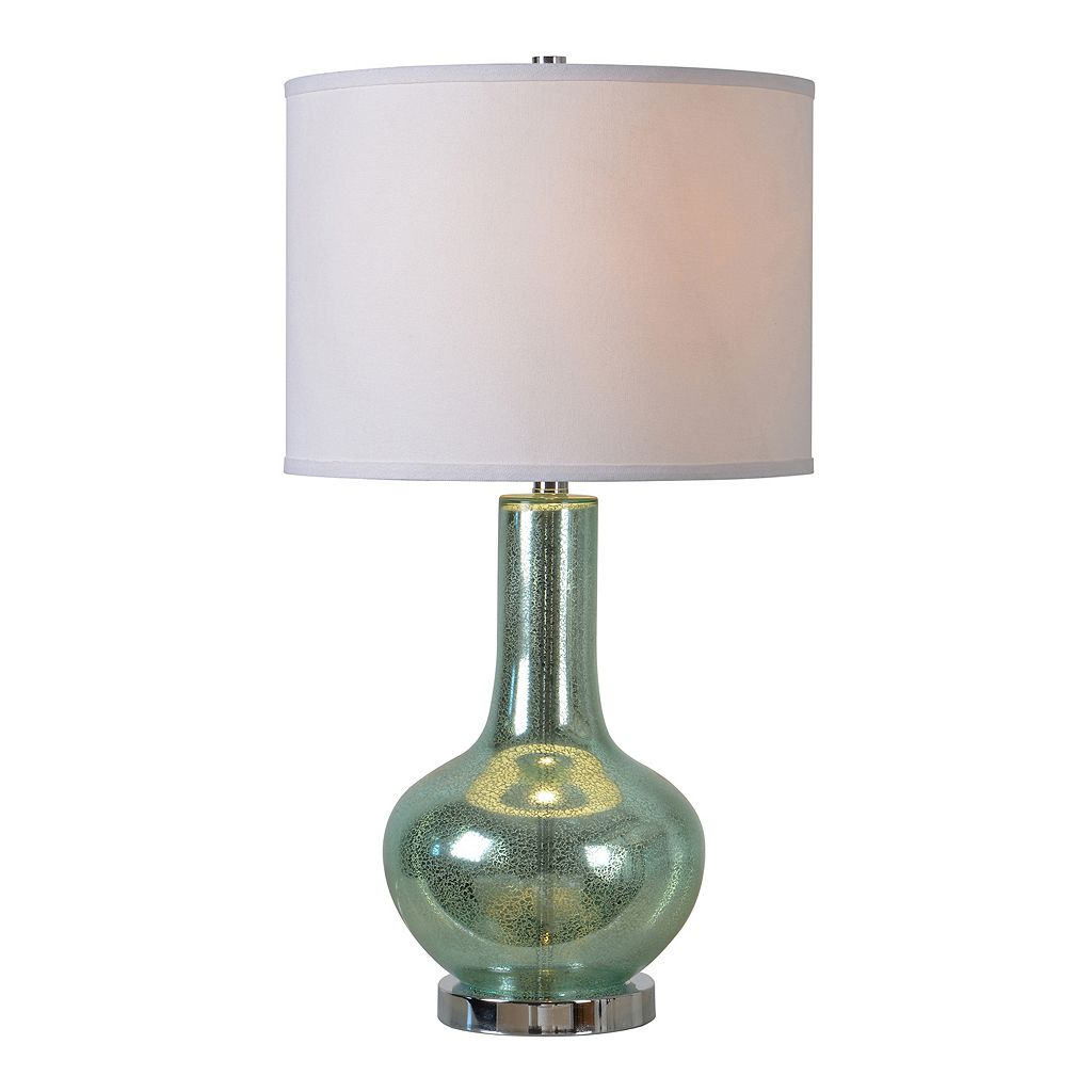 Kenroy Home Silver Sea Speckled Glass Table Lamp