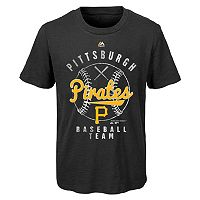 Boys 8-20 Majestic Pittsburgh Pirates 1st Print Tee