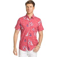 Men's IZOD Classic-Fit Chambray Woven Button-Down Shirt