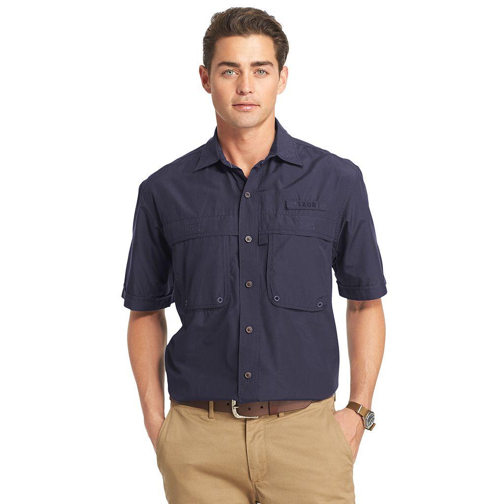 Men's IZOD Surfcaster Classic-Fit Solid Button-Down Shirt