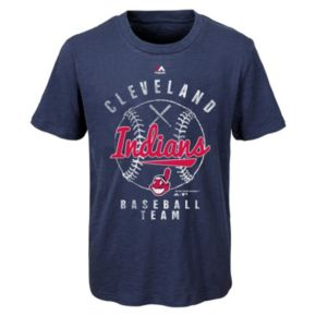 Boys 8-20 Majestic Cleveland Indians 1st Print Tee