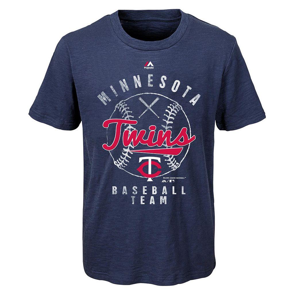 Boys 8-20 Majestic Minnesota Twins 1st Print Tee