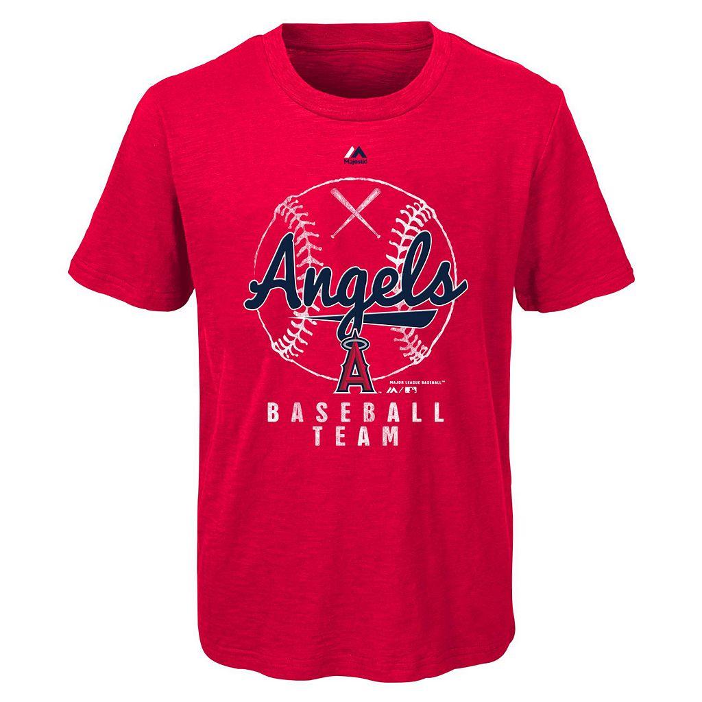Boys 8-20 Majestic Los Angeles Angels of Anaheim 1st Print Tee