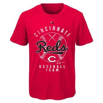 Boys 8-20 Majestic Cincinnati Reds 1st Print Tee