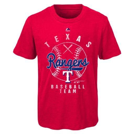 Boys 8-20 Majestic Texas Rangers 1st Print Tee
