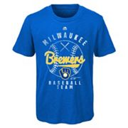 Boys 8-20 Majestic Milwaukee Brewers 1st Print Tee