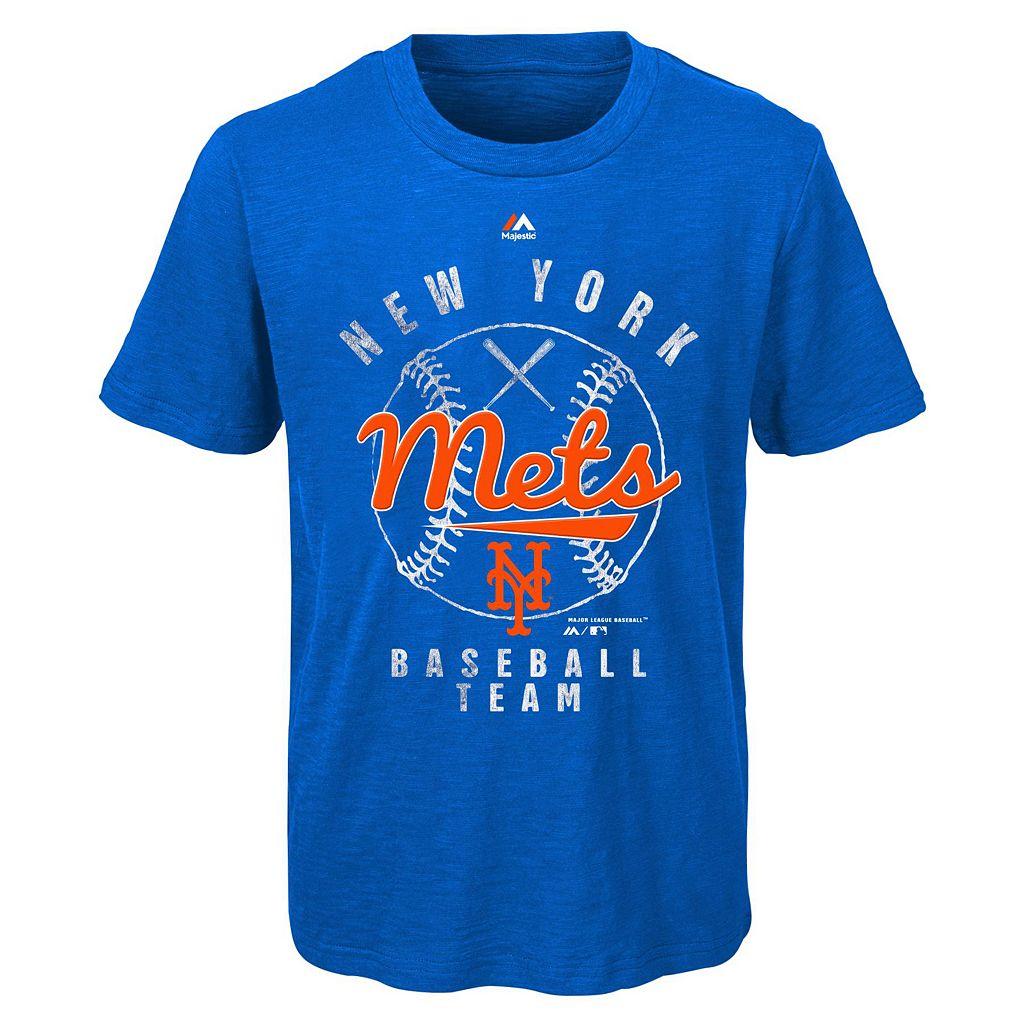 Boys 8-20 Majestic New York Mets 1st Print Tee