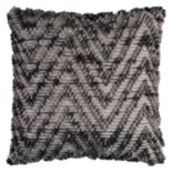 Rizzy Home Textured Chevron Throw Pillow