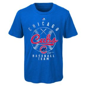 Boys 8-20 Majestic Chicago Cubs Heathered Tee