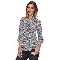 Women's Croft & Barrow® Lace-Up Blouse