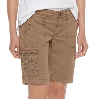 Petite SONOMA Goods for Life™ Embroidered Bermuda Shorts
