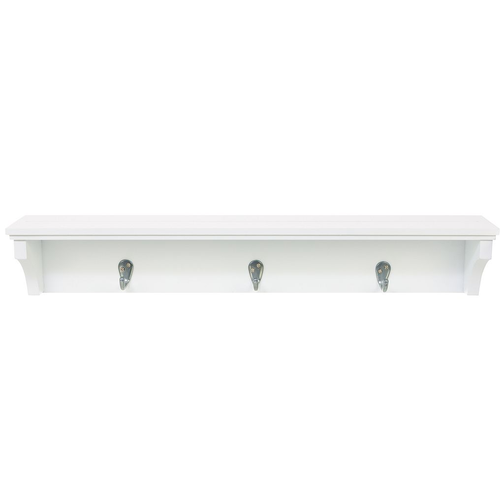 Kiera Grace Finley 3-Hook Wall Shelf