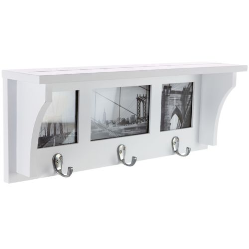 Kiera Grace Riley 3-Hook Photo Collage Wall Shelf