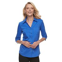 Women's Croft & Barrow® Knit-to-Fit Shirt