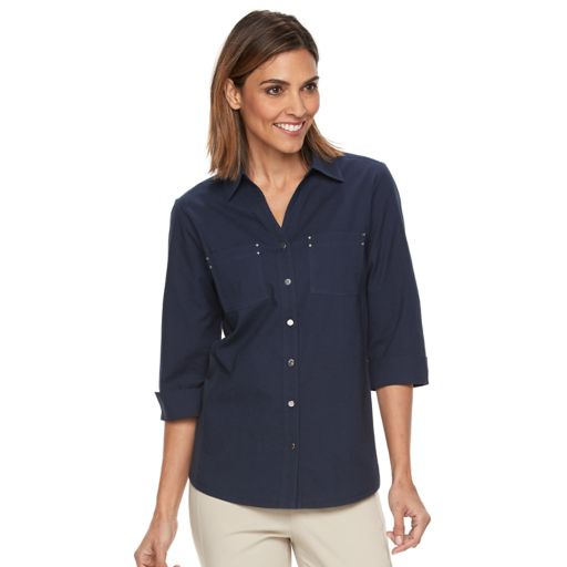 Women's Croft & Barrow® Knit-to-Fit Shirt