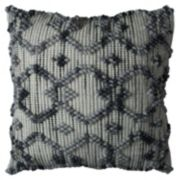 Rizzy Home Textured Intertwined Diamond Geometric Throw Pillow