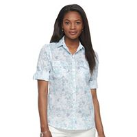 Women's Croft & Barrow® Roll-Tab Shirt