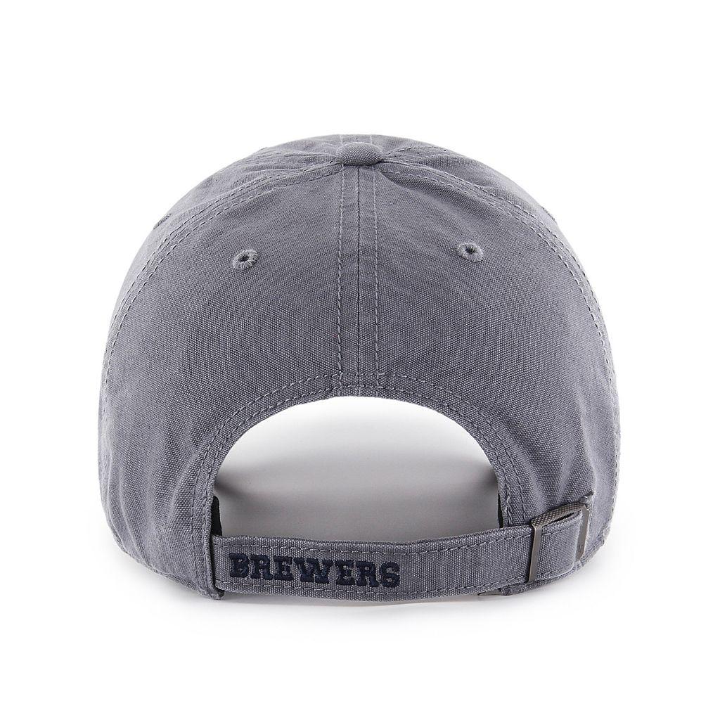 Adult '47 Brand Milwaukee Brewers Borderland Clean Up Adjustable Cap