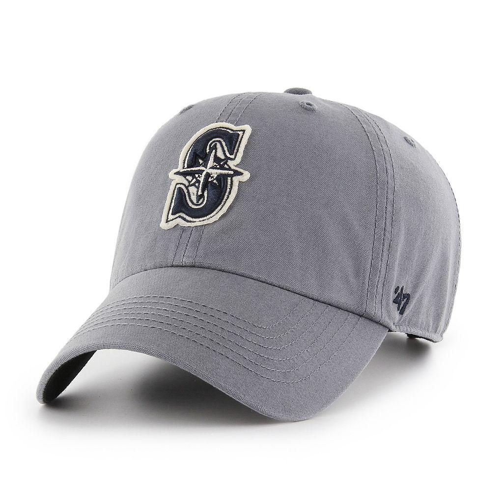Adult '47 Brand Seattle Mariners Borderland Clean Up Adjustable Cap