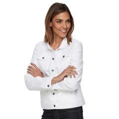 Womens White Denim Jackets Coats & Jackets - Outerwear, Clothing ...