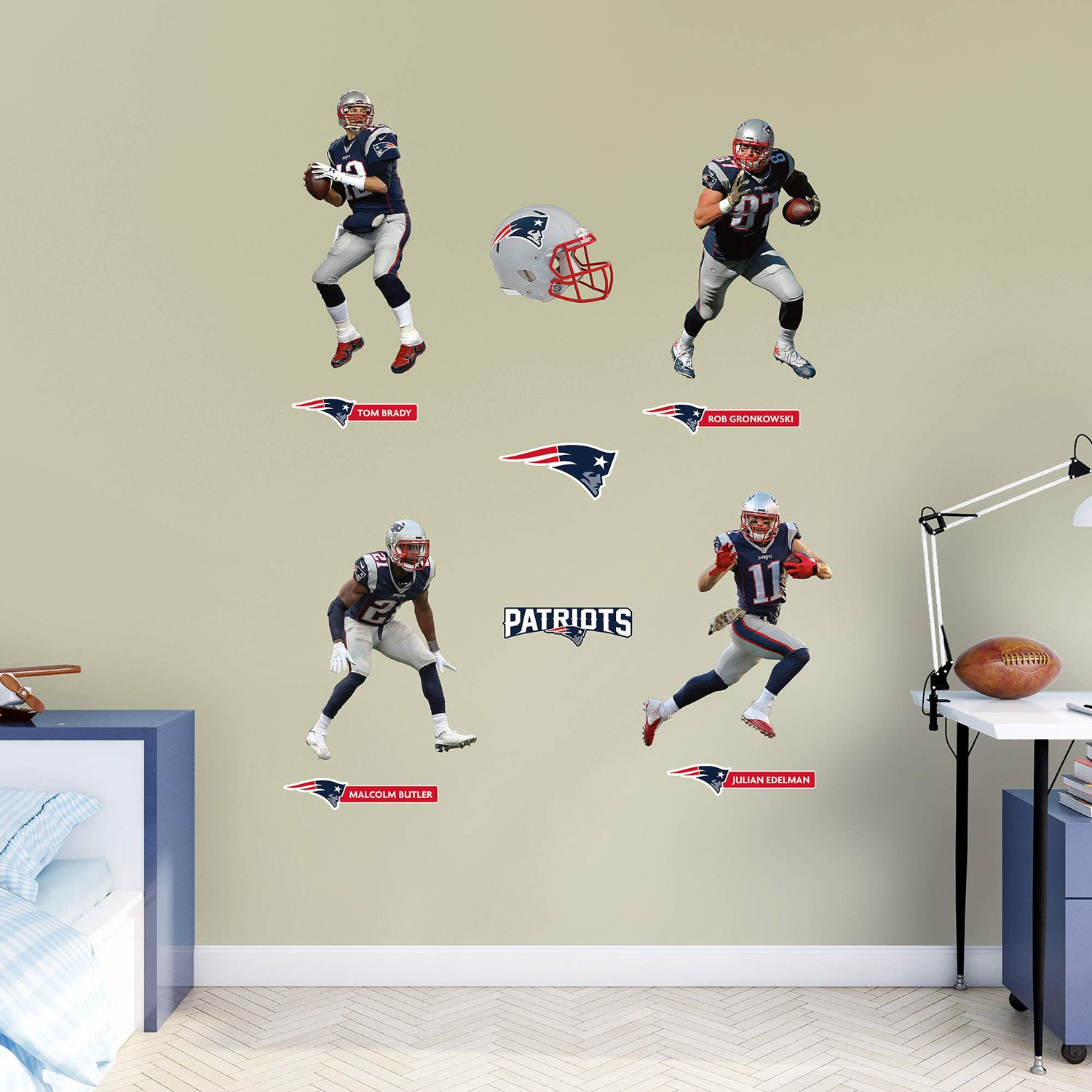 New England Patriots Power Pack Wall Decals by Fathead : new england patriots wall decals - www.pureclipart.com